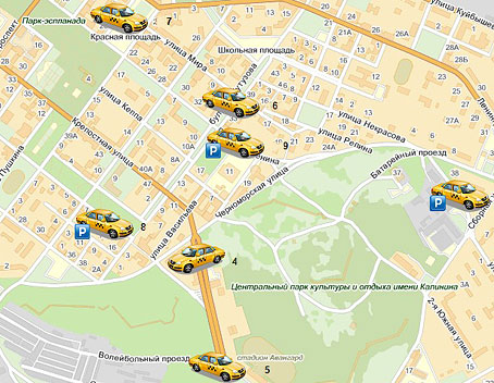 Мониторинг такси ГЛОНАСС/GPS фото