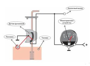 Схема подключения датчика уровня топлива